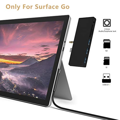 puissant Station d'accueil Cateck Station d'accueil Microsoft Surface Go USB C Port USB3.0 x 3 cartes SD / Micro SD / TF…