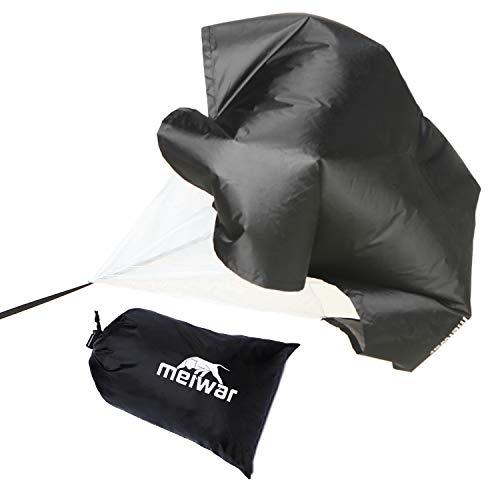 meiwar Sprintfallschirm - Speed Chute für das Schnelligkeitstraining I Running Parachute für Sprintraining