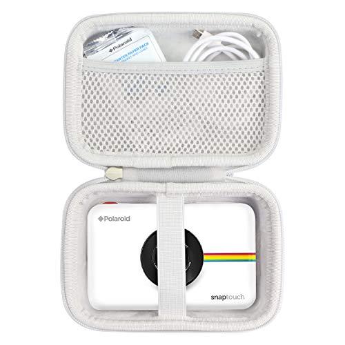 Khanka Hart Tasche für Polaroid SNAP Touch 2.0 & Schnappschuss & Snap Digitale Instant Kamera Sofortdruck Digitalkamera Sofortbildkamera Case.(weiß Reißverschluss)