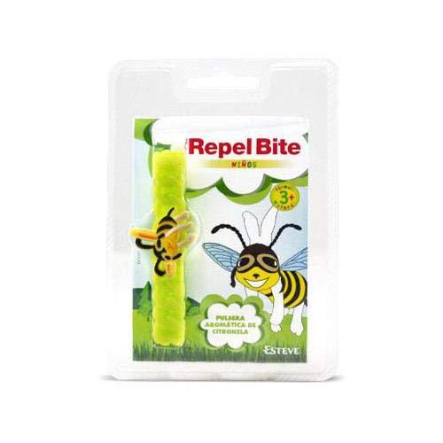 REPEL BITE NIÑOS pulsera citronela. Pulsera AntImosquitos. Elástica y flexible. Para muñeca y tobillo. Citronela. Resistente al agua. Duración 3 semanas.