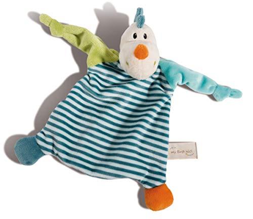 NICI 43704 Schmusetuch Drache Dragilu ca. 25x25cm, Schnüffeltuch für Babys zum Trösten, Einschlafen und Kuscheln, beige/bunt