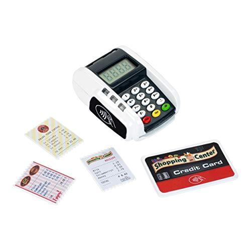 Theo Klein 9360 Bezahl-Terminal mit Licht & Sound I Batteriebetriebene Ergänzung zu Spielzeugkassen I Inkl. Contactless-Payment-Funktion I Maße: 11 cm x 8 cm x 5 cm I Spielzeug für Kinder ab 3 Jahren