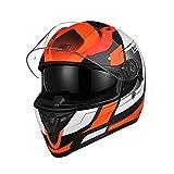 ORIGINE Casco Integrale da Moto Rapid Omologato ECE 22-05 con Visiera (Advanced fluo orange-blk MATT,XL)