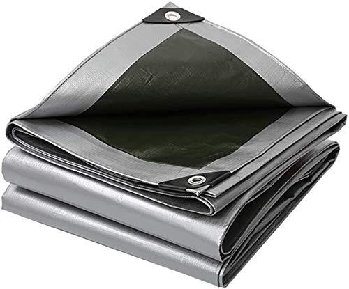 Lona Tela de Lona Impermeable y Lonas de protección Solar de Plata (Gris) |Lona Impermeable for tareas Pesadas Cubierta for la Tienda de campaña, hamacas, Piscina, Coche, Moto (Size : 5mX10m)