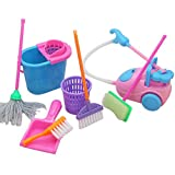 Demarkt Kinder Reinigung Spielzeug Set 9 PCS Puppe Möbel Reinigung Werkzeuge Set für Barbie...