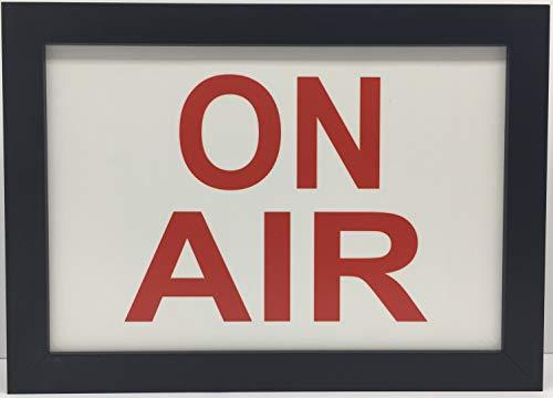 "ON AIR Recording TV Radio Studio LED Illuminated Sign - Nostalgic 8"" x 12"" Light Box w/Remote"