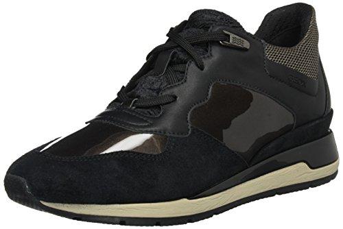 Geox D Shahira B, Zapatillas para Mujer, Negro (Black/Chestnut), 36 EU