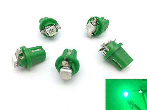 TMT LEDS(TM) Lot de 5 ampoules LED B8.5D 1 LED SMD 5050 Pour tableau de bord Vert