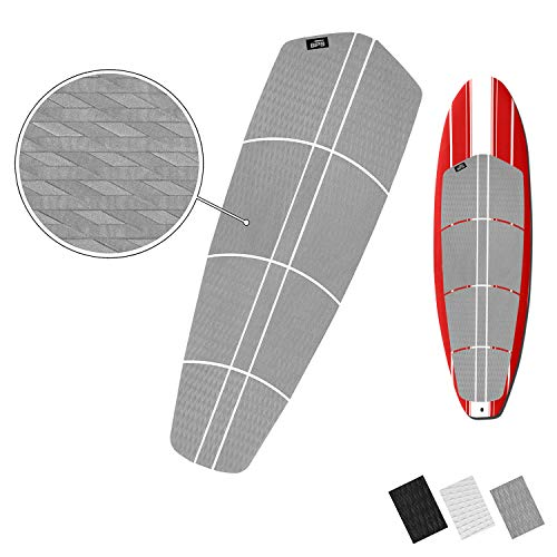 BPS 12-Piece EVA Sheet Grip Pad with 3M Adhesives - for SUP Board, Longboard, and Surfboard (Cool Grey)