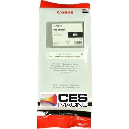 Canon PFI-207BK ImagePrograf iPF680 iPF685 iPF780 iPF785 Ink Tank (Black) in Retail Packaging