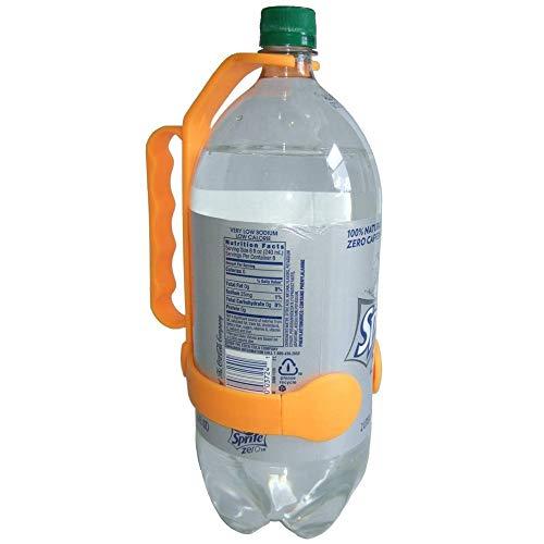 ODJOY-FAN Universal Flasche Griff Fügt hinzu Griff Zu 1 Und 2 Liter Flaschen Wasser Tülle Flasche Flaschengriff Griff Trinkflasche Griff Bottle Handle(Orange,1 PC)