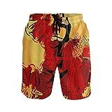LISNIANY Bañador Hombre,Mujer española Chica Bailarina en Rojo,Natación Secado Rápido Malla Pantalones Imprimiendo Cortos(M)