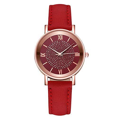 APOKIOG Relojes Mujer Moda Reloj Hombre Mujer Ultra-Delgada Banda de Malla