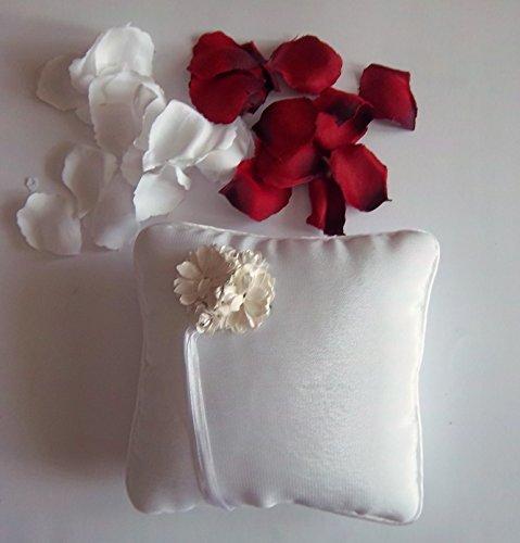Sachsen Versand Cojín para alianzas bordado, romántico, boda, diseño elegante