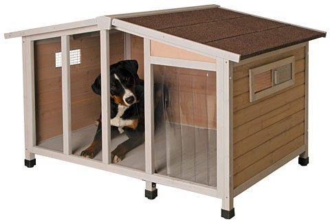 【ALLFORWAN'sLIFE】ドイツKerbl 超大型犬用犬小屋 ドッグハウスオーバービュー134x92x82cm 犬小屋 屋外用 大型犬