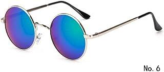 84256b64f2 ADGJLI Nuevo Diseñador De Marca Clásico Polarizado Gafas De Sol Redondas  Hombres Pequeño Vintage Retro John