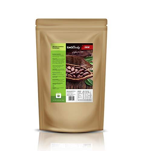 EMO Body - Cacao Puro Ecológico en Polvo con Fermentos Naturales - 500 g - 100{c7940ba6af1a0089476732b5cbdad55a68f0cbbec26570058221266d6b7266a5} Natural - Alimento Prebiótico Fermentado - Bajo en Grasa - Apto para Veganos