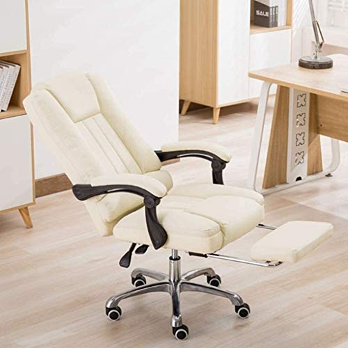 BLLXMX Gaming Chair Office Desk Chair Boss Chair High Back Computer Chair Ergonomic Adjustable Racing Chair Executive PC Chair with Headrest,Massager Lumbar Support & Retractible Footrest