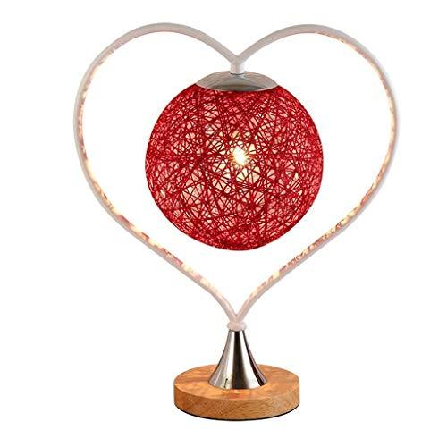WZHZJ Tabla Sencilla lámpara E27 Lámpara de Mesa de Boda Boda cabecera de la habitación Dormitorio lámpara de Larga duración