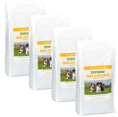 TOP Dog Goldschatz - Welpenfutter - Trockenfutter - ohne Zusatz von Getreide (4X 2,5 KG)