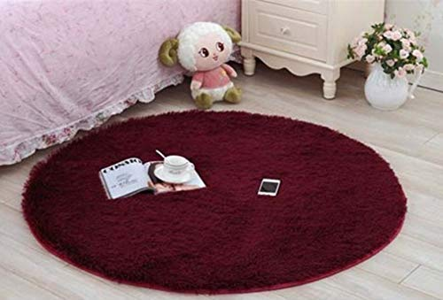 YuQiang Carpet Basket Swivel Chair Floor Protection Floor Mat Doorway Non-Slip Foot Mat Fashion Simple Solid Color Room Decorative Design,80cm*80cm
