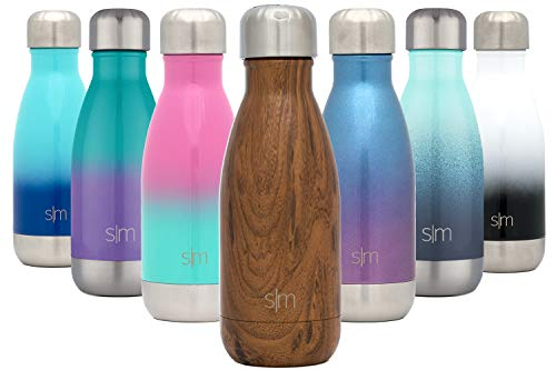 Simple Modern 250 mL (9oz) Wave Trinkflasche - Wasserflasche Thermosflasche Thermoskanne für Sport, Isolierflasche Vakuumisoliert- Doppelwandig- Edelstahl - Geschenke für Kinder, Frauen, und Männer
