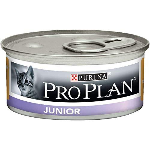 PRO PLAN - JUNIOR - Mousse riche en Poulet - 85 g - Boite repas pour chaton - Lot de 24