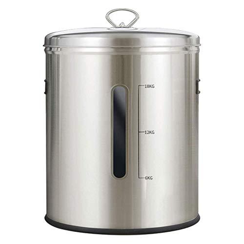 YEXINTMF Recipiente de Almacenamiento de arroz Acero Inoxidable, harina y contenedor de Cereales, Recipiente de Metal para Alimentos de Cocina, Caja de Grano de Cereal dispensador de arroz Grande