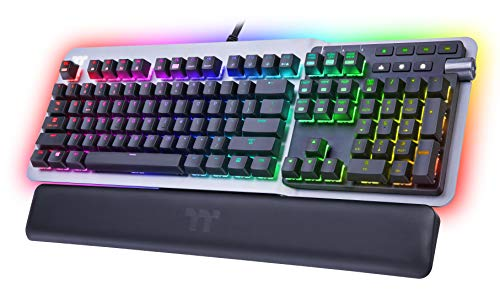 Thermaltake Argent K5 RGB Gaming Keyboard Cherry MX Speed Silver