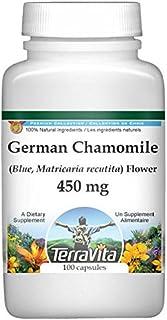 German Chamomile (Blue, Matricaria recutita) Flower - 450 mg (100 Capsules, ZIN: 516213) - 2 Pack