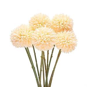 Artificial Dahlia Flowers, Artificial Christmas Flowers, Silk Fake Hydrangea Flowers Bunch Bridal Wedding Bouquet for Home Garden Party Wedding Decoration 10 Pcs