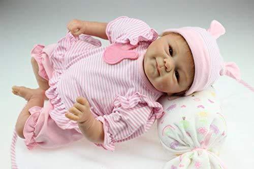 iCradle Muñecas Reborn Bebé Realista Silicona Suave de Vin