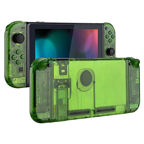 eXtremeRate Carcasa Transparente para Nintendo Switch Funda Completa Protector para Mando Controlador Consola Joy-con de Nintendo Switch Accesorios Shell Placa de reemplazo con...