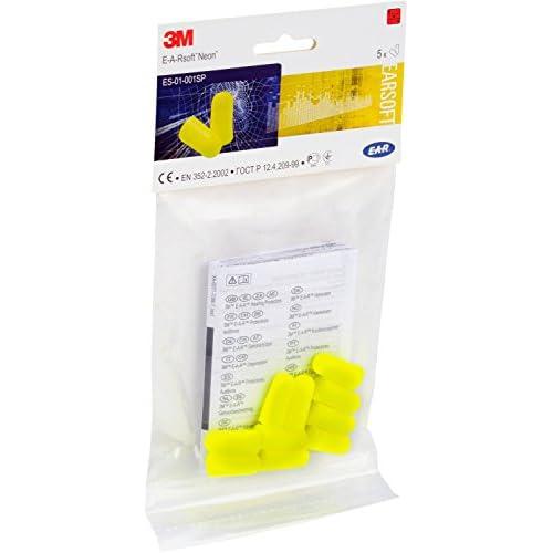3M™ E-A-Rsoft™ Inserti auricolari modellabili, yellow neons, 36dB, senza cordicella, 5 paia/confezione, ES-01-001SP