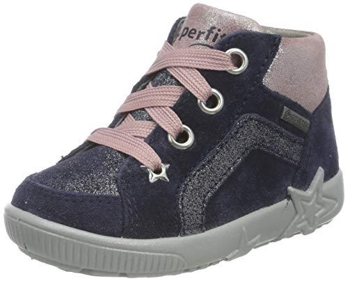Superfit, Baby - Mädchen, Lauflernschuh, Sneaker, BLAU/ROSA 8000, 22 EU