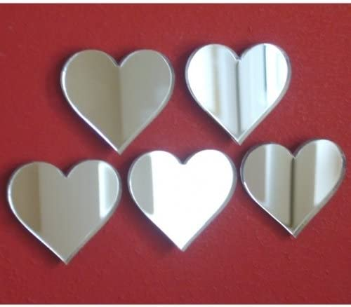Super Cool Creations Heart Mirrors Pack 20 of Max 64% OFF 1inch 70% OFF Outlet Size Each