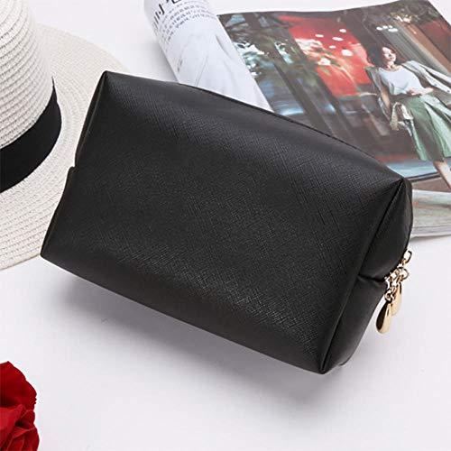 Qaoping Cosmético del Recorrido Bag Lady-Blanco (Color : Black)