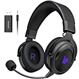 Tronsmart SHADOW Cuffie da Gioco 2.4G Cuffie Gaming Wireless 3,5 mm per PS4, PS5, PC, Switch Grandi Altoparlanti da 50mm-Audio Surround con Microfono con Cancellazione de Rumore-Viola (Elettronica)