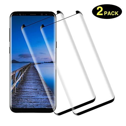 TOCYORIC Protector de Pantalla para Samsung S9 Plus [2 Pack] [ 3D Cobertura Completa] Anti-Burbujas, Alta Definicion, 9H Dureza, Protector Cristal Templado para Galaxy S9 Plus