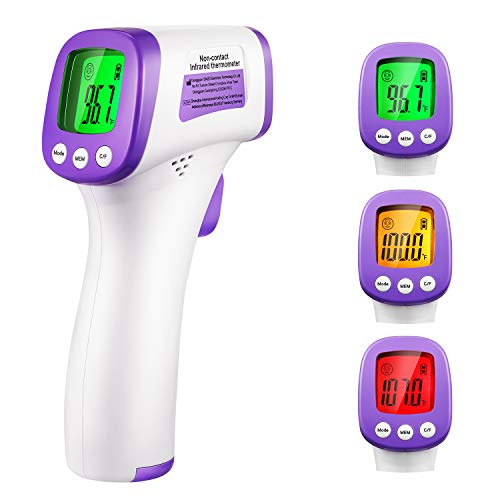 Non-Contact Forehead Infrared Thermometer for Baby Kids & Adults with LCD Display and Temperature Alarm-Fast Arrive Within 2-5 Days