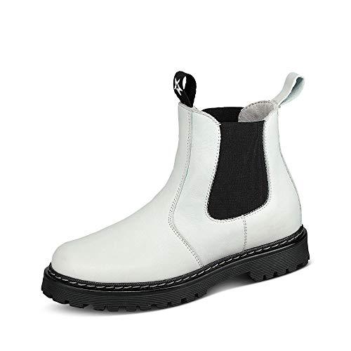 Froddo G3160134 Kinder Mädchen Chelsea-Boots aus Glattleder Gummisohle Gummizüge, Groesse 32, weiß