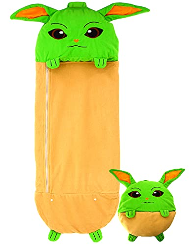 vavalad Cartoon Slumber Bags 2 in 1 Nap Pillow Portable Foldable Sleeping Bag 55x20 Inches Nap Pad for Children Boys and Girls