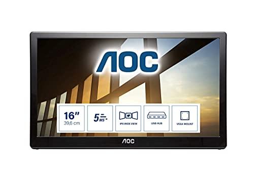 AOC i1659Fwux - 16 Inch FHD USB Powered Portable Monitor, Vesa 1920 x 1080...