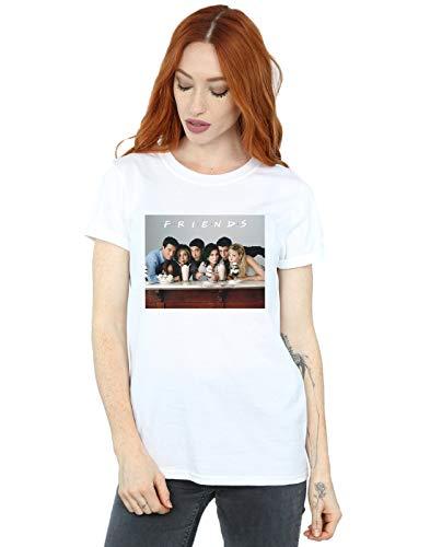 Absolute Cult Friends Femme Group Photo Milkshakes Petit Ami Fit T-Shirt Blanc Small