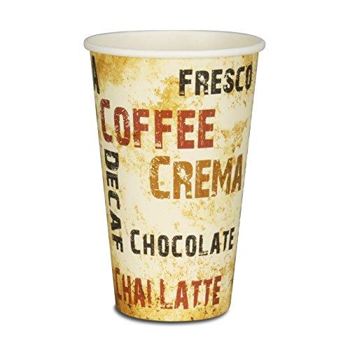 pack2go 1000 Premium Kaffeebecher - 16oz, 400ml, Pappe, Coffee to go Becher Barista, Pappbecher, Becher to Go, Einwegbecher