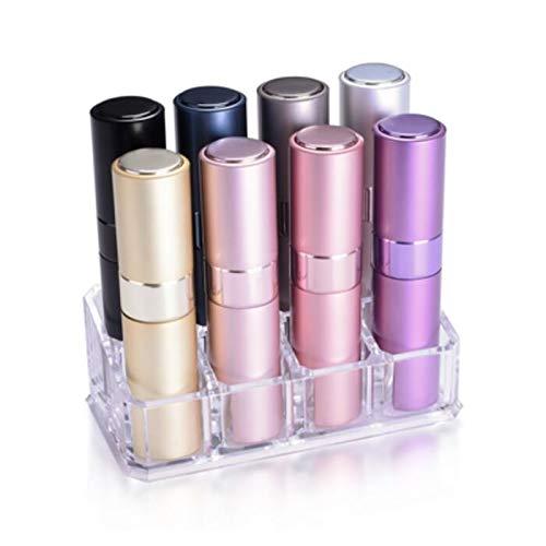 BLUSH ブラッシュ アトマイザー 全8色セット(スタンド付) 香水ボトルから直接入れ替えできるツイストアップ・キャップレス 香水アトマイザー