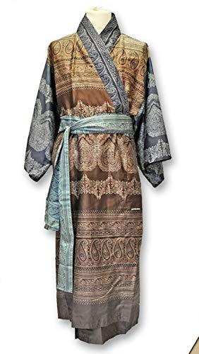Bassetti Brunelleschi M1 - Kimono para mujer, 100 % algodón, marrón, S-M