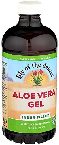 Lily of the Desert Aloe Vera Gel, Inner Fillet, 32 Ounces (Pack of 2)