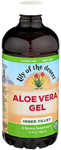 Lily of the Desert Aloe Vera Gel, Inner Fillet, 32 Ounces (Pack of 2) Aloe Vera Aloe Vera Gel