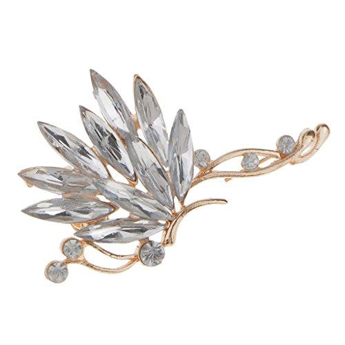 dailymall Moda Mujer Señoras Rhinestone Crystal Left Ear Cuff Clip en El Pendiente Wrap Jewelry